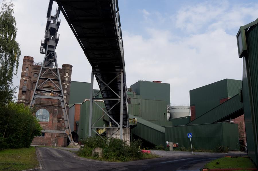An overhead coal conveyor at the Prosper-Haniel coal mine will soon shutdown for good.