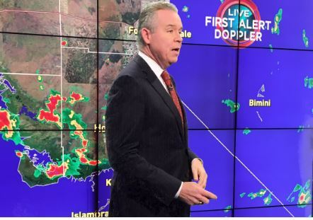 TV weather forecaster