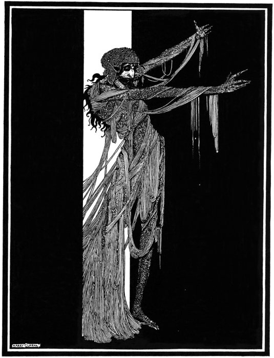 "Harry Clarke's 1919 illustration for the story ""The Fall of the House of Usher."""