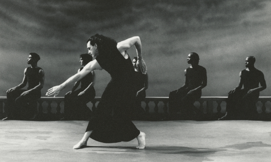 "Mark Morris dancing in the ""Dido and Aeneas"" film shoot, Toronto, 1996."