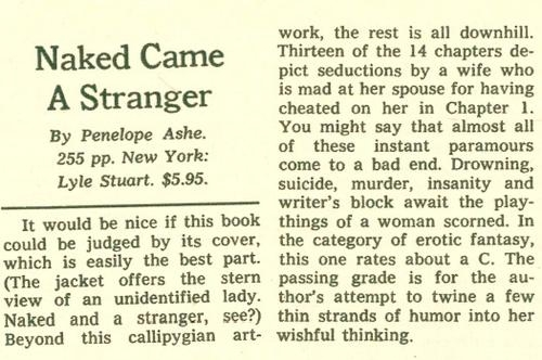 The New York Times reviewed the book, August 3, 1969, not aware that it was a parody.