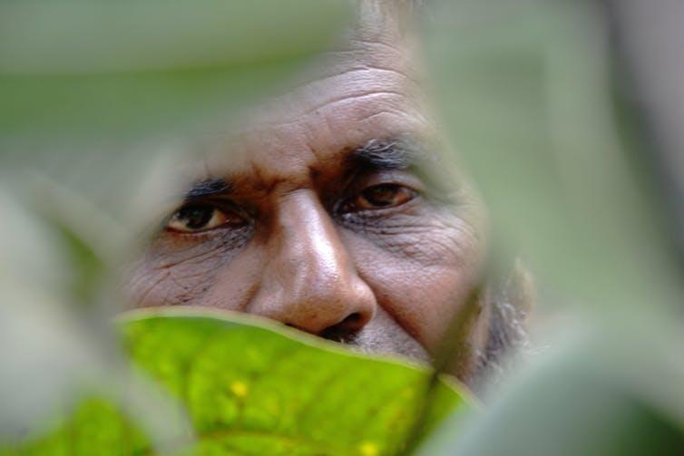 A close up of a man's face