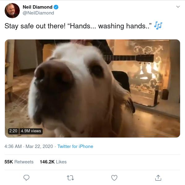 Neil Diamond tweet