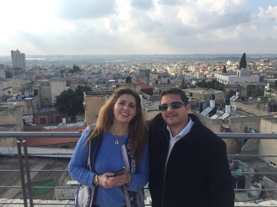 Rinad Jbara and her husband Rafiq in Taybeh
