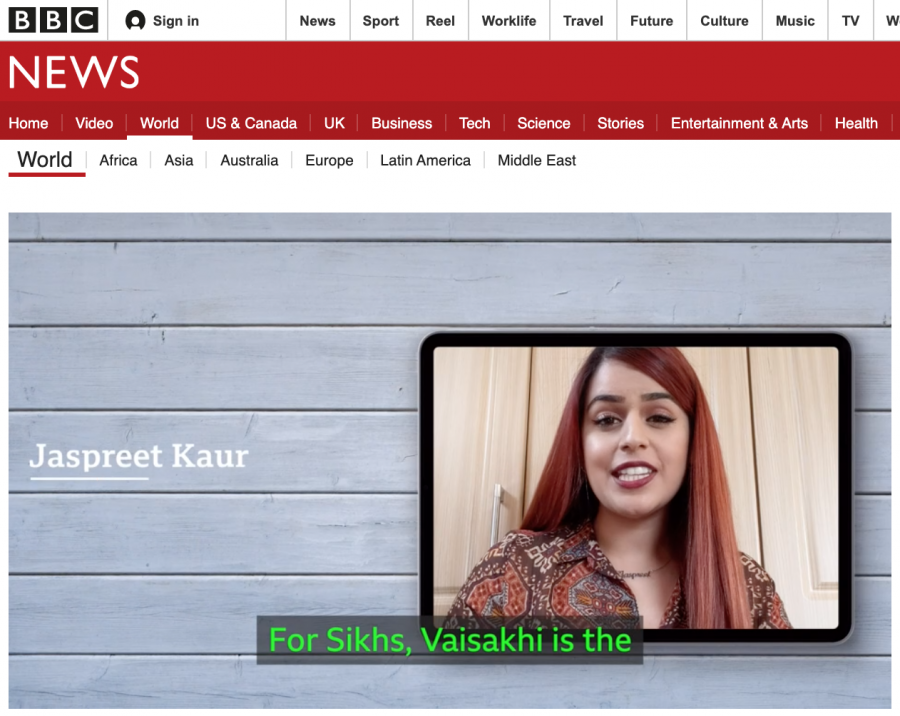 A screenshot of BBC News