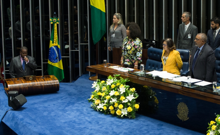 Brazilian senators commemorate the Day of Black Consciousness on Nov. 20, 2016; it became a national holiday in 2011.