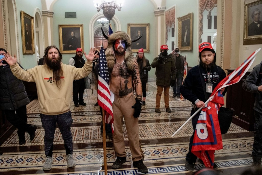 Among the crowd that stormed the U.S. Capitol on Jan. 6 were QAnon supporters.