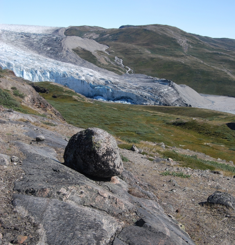 Tundra near the Greenland ice sheet today. Is this what Camp Century looked like before the ice came back sometime in the last million years?