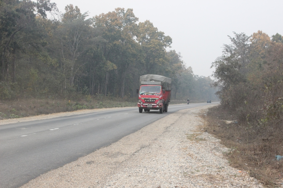 The East-West Highway bisects Nepal's Parsa National Park, a key area for tiger recovery, and will be widened to four lanes in the next several years.