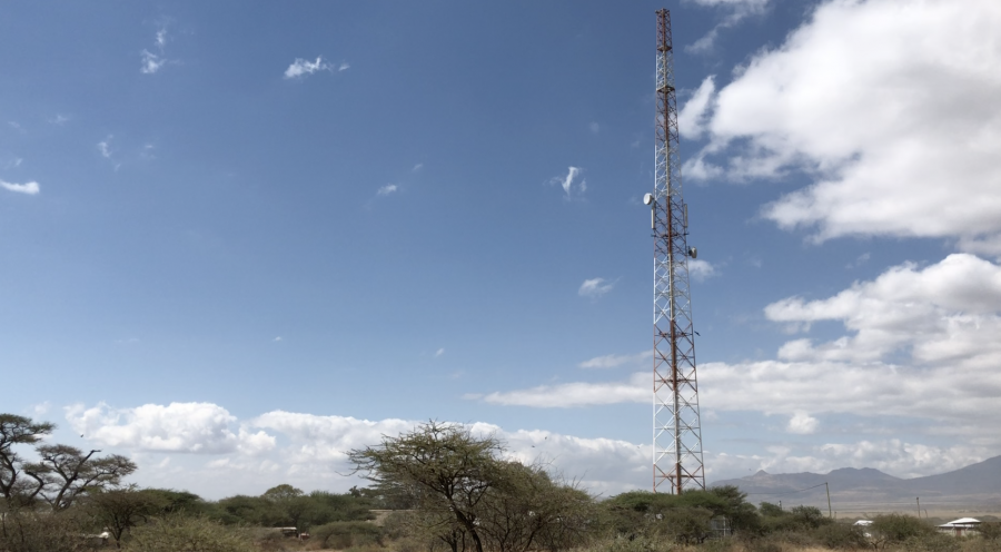 A cellular tower in the study area.