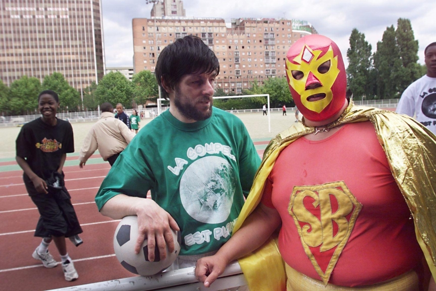 Superbarrio, seen here in 1998, was an early real-life Mexican superhero who became popular across Latin America.