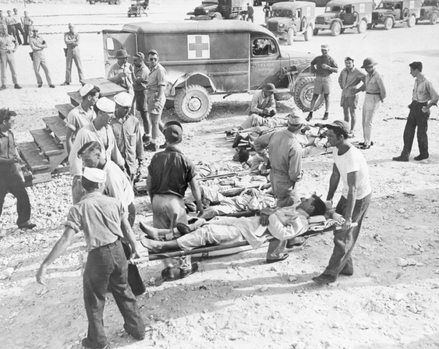 Not everyone made it to shore after the torpedoing of the USS Indianapolis.