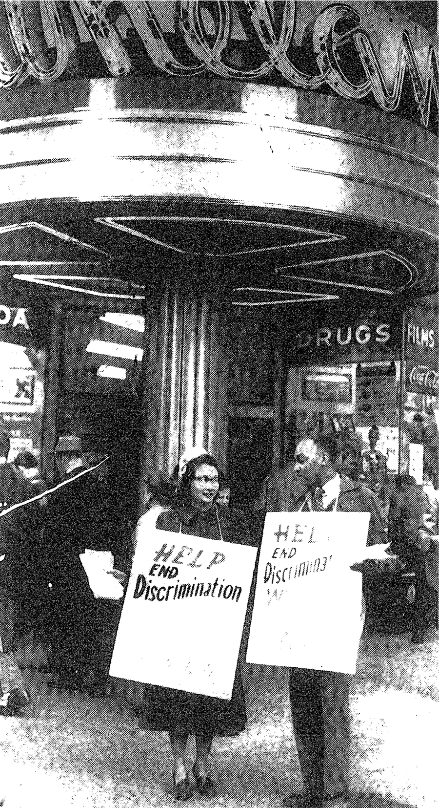 Ina Sugihara and Charles Crawford protest for civil rights
