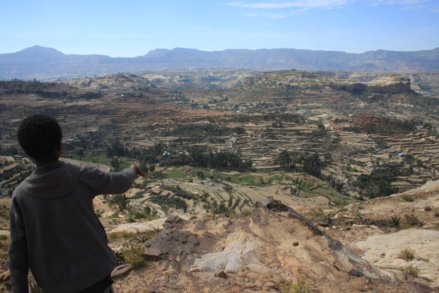 The rugged landscape of Tigray, Ethiopia's most northern region, stretches away to the north and into Eritrea. Once Eritrea was Ethiopia's most northern region until it gained independence in 1991.