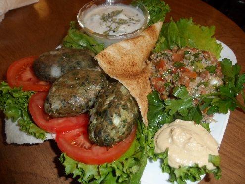 Mediterranean kebab wraps with cilantro trabbouleh.