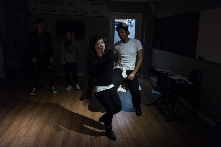 Priscillia Gomez, 20, and Limanol Adams, 27, practicing at Born Star Training Center in New York.