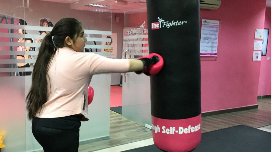 One of the students at SheFighter.