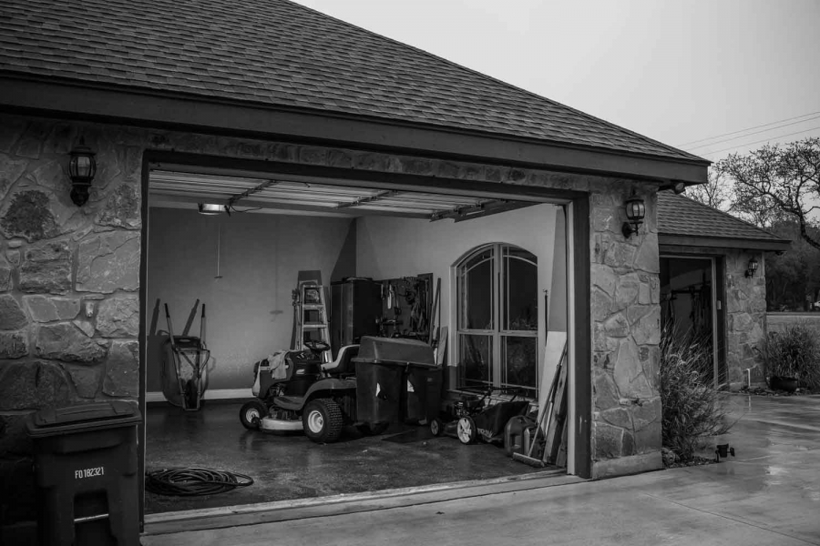 Clay Ward's garage. Ward was deployed to Iraq. His wife Sabine Ward stood by his side as he struggled to adjust to civilian life. He was diagnosed with PTSD and haunted by what he'd been through while at war. When it grew overwhelming, he took his gun, wa