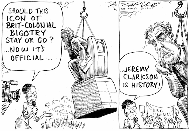 South Africa's most famous cartoonist considers what to do