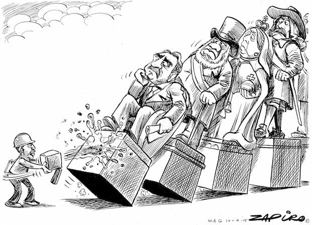 South African Jonathan Shapiro, aka Zapiro, has cartooned