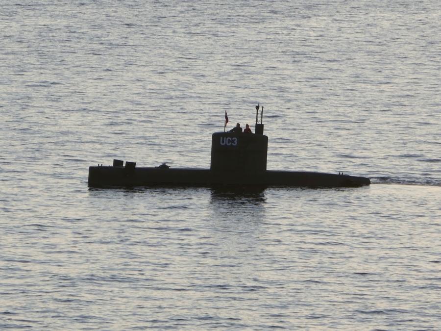 "The home-made submarine ""UC3 Nautilus,"""