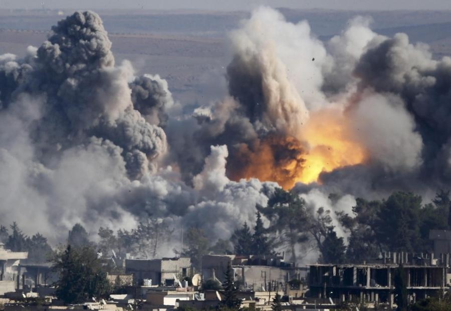 Airstrikes in Syria. October, 2015.