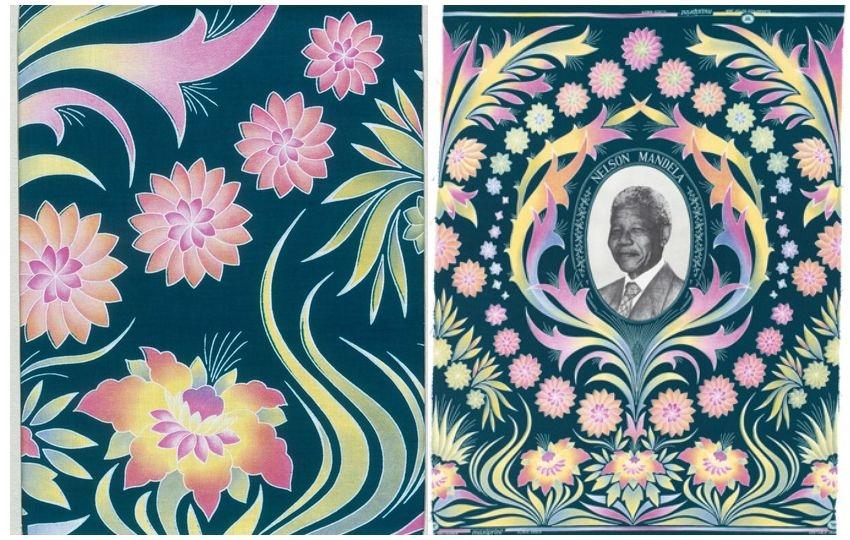 A pattern featuring Nelson Mandela