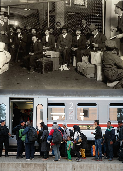 These Photos Compare Immigrants Landing On Ellis Island In