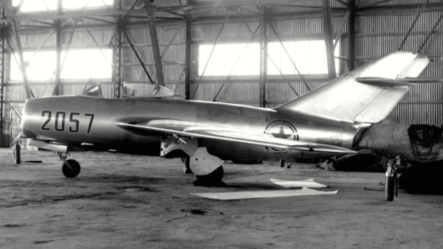 Fearing a Communist air attack that might destroy the stolen MiG-15 before it could be examined, the US Air Force quickly hid it in a hangar and disassembled it for shipment out of South Korea.