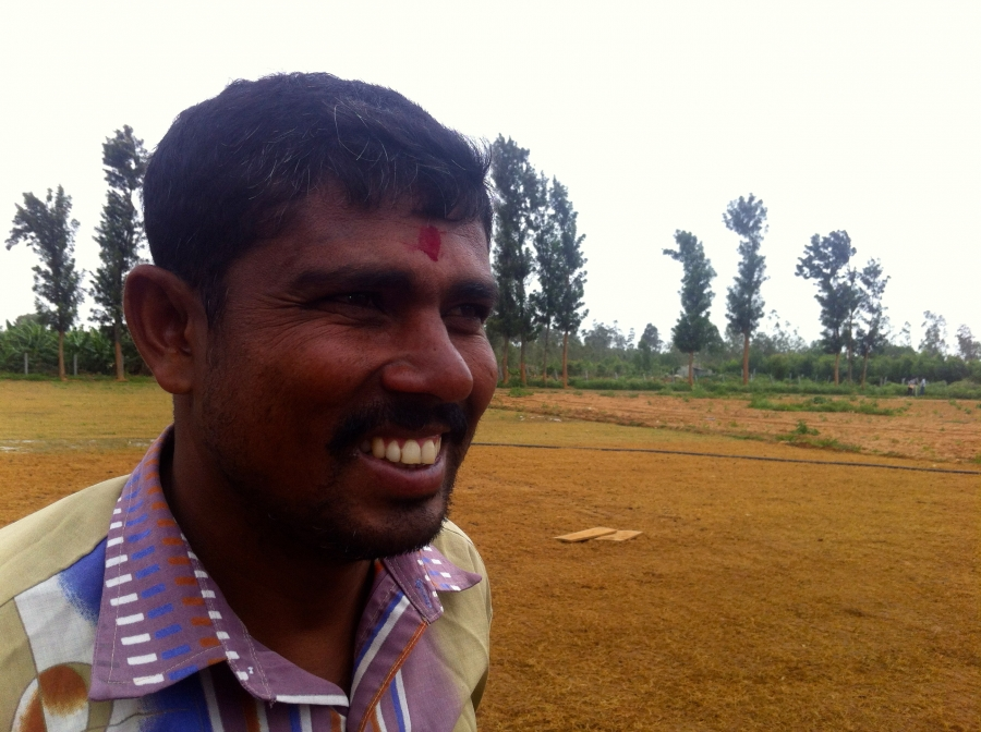 Bangalore farmer Rajanna Uganawadi says by switching from synthetic fertilizers to human waste he's increased his banana harvests to three or four from two.
