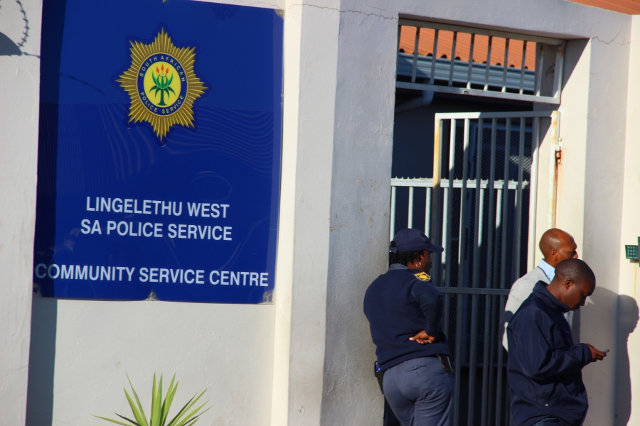 A police station in Khayelitsha township. (Photo: Anders Kelto)