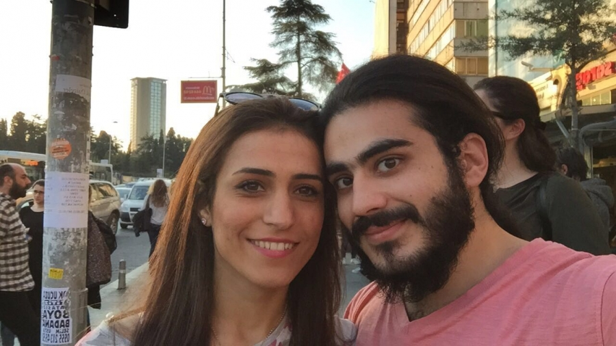 husband and wife, syrian refugees