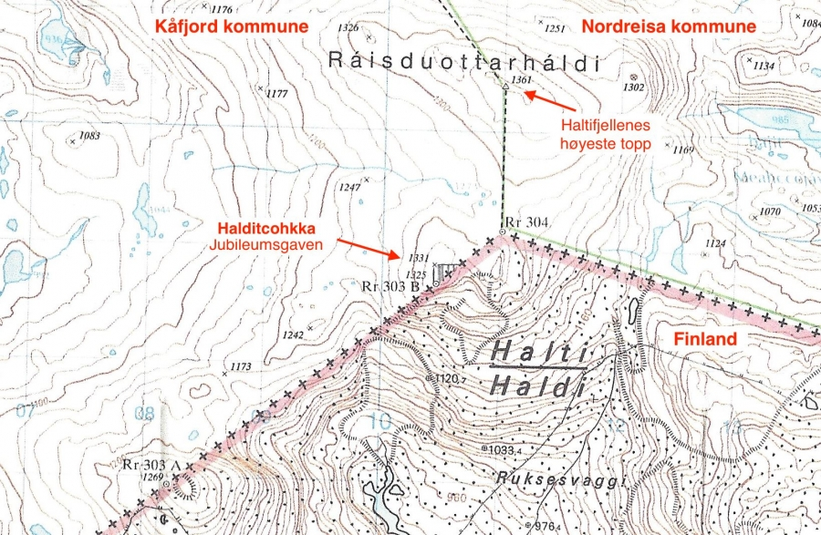 A map of the mountain Norway may give Finland