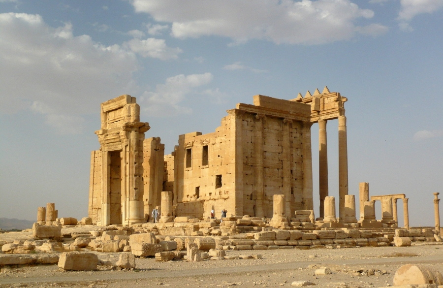 The Temple of Bel stands in the historical city of Palmyra, Syria, August 4, 2010.