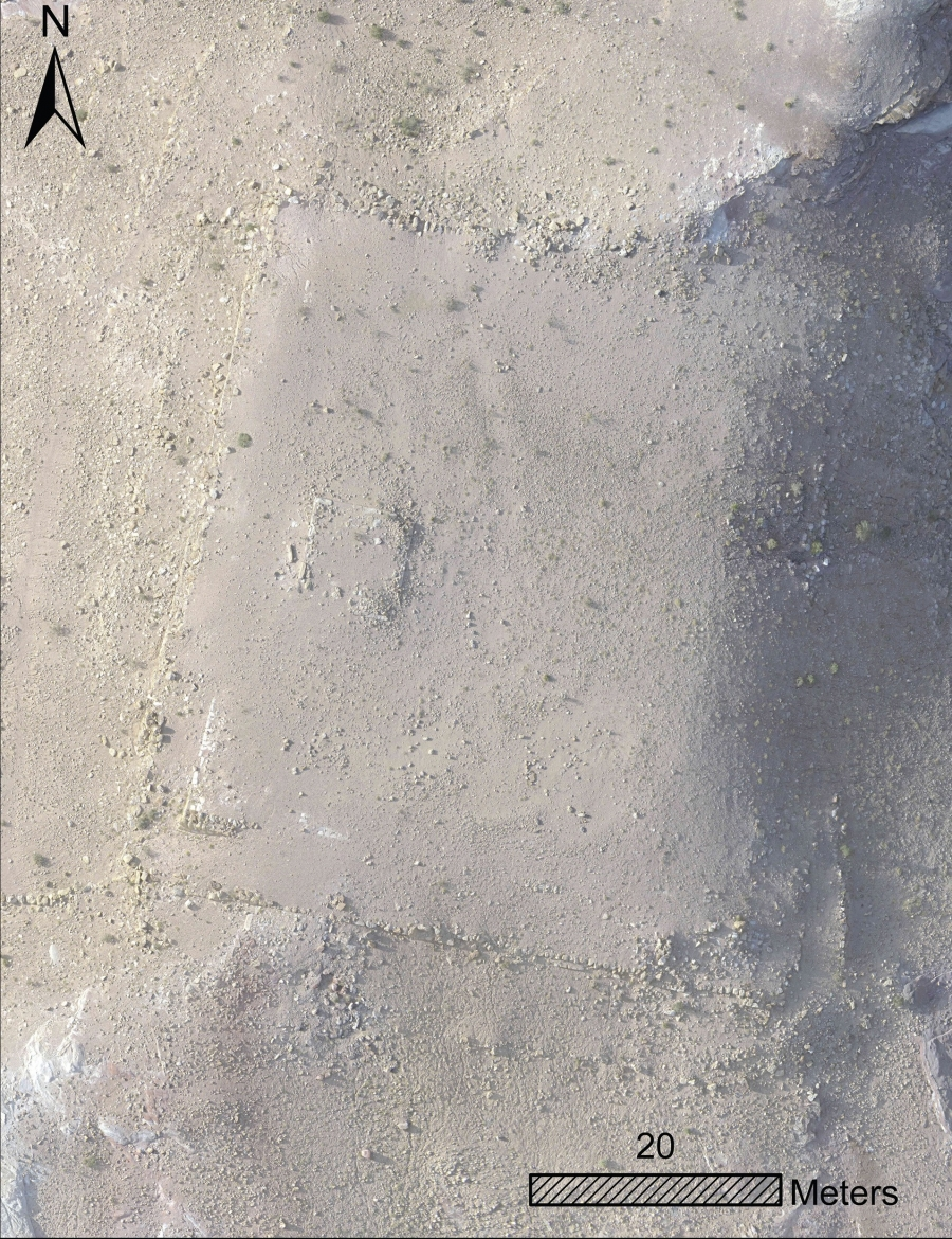 A drone image of the newly-discovered platform monument