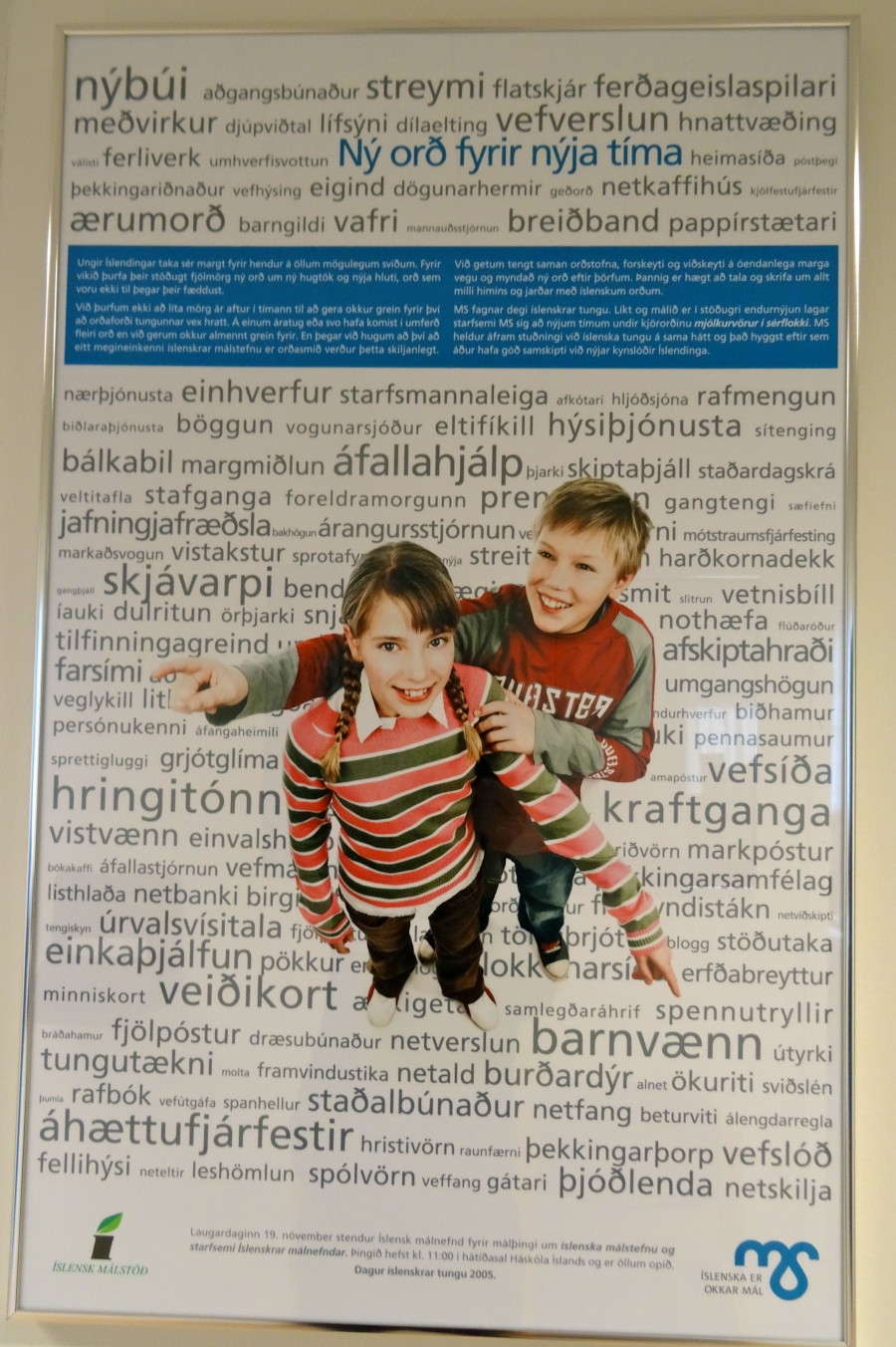 A poster promoting the Icelandic language.