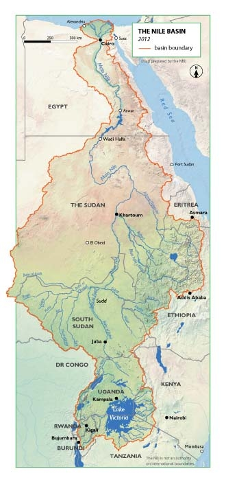 A Deal On Africas Biggest Dam Eases Tensions On The Nile Public - World map the nile river
