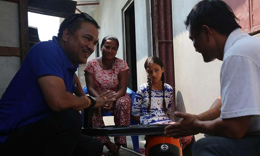 Saraswoti Shrestha and her family