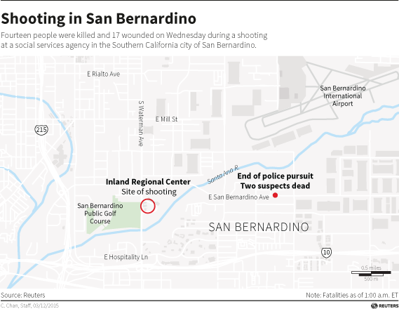 Map of San Bernardino