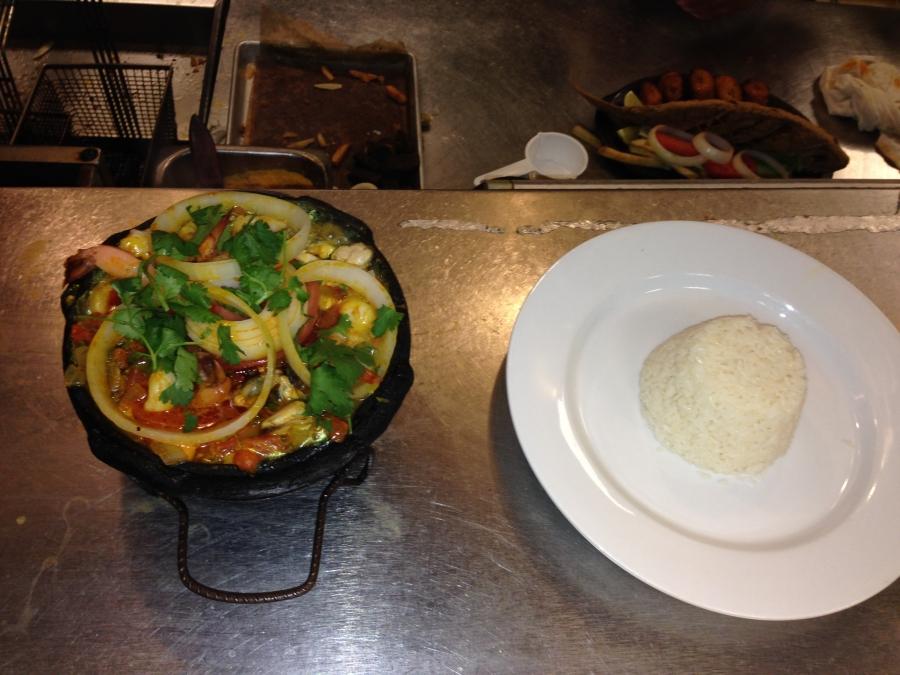 Brazilian seafood stew called Muqueca