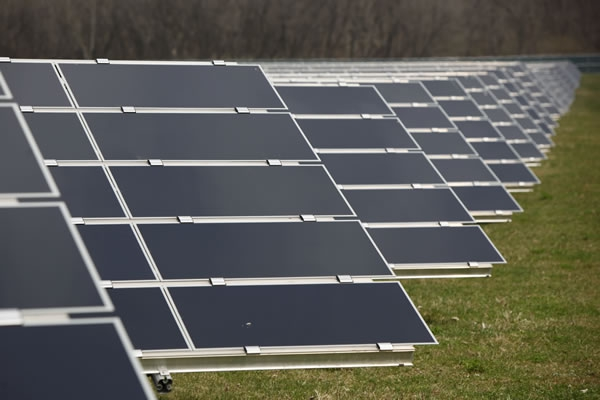 Solar panels at Mars' factory in Hackettstown, NJ where M&M's are produced. Mars has invested in enough renewable energy to power all of its US factories.