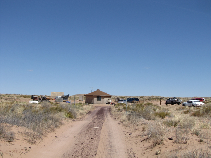 The Dickson family's hogan on the Navajo Nation has no running water. But DIGDEEP is raising money to connect the home to a water line 1,200 feet away.