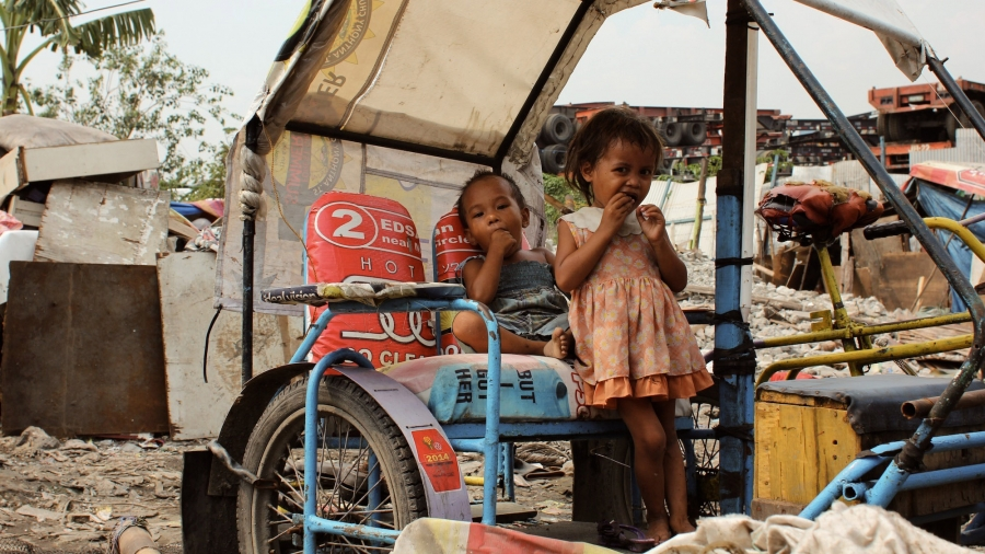 Malnutrition and other diseases of poverty, like tuberculosis, is common in the slums of Manila.