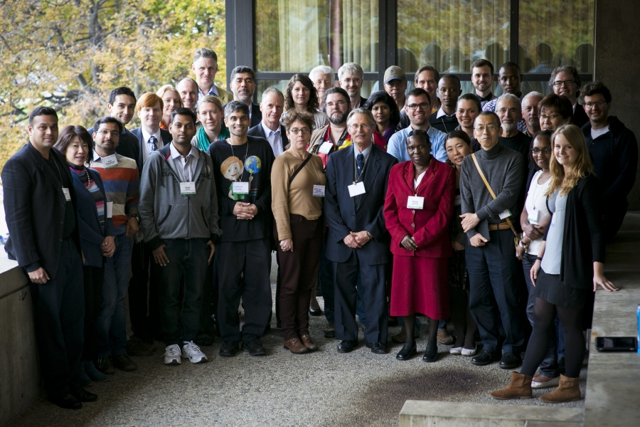 Many members of the 34 winning teams in this year's Climate CoLab contest, from 17 countries, gathered at the Climate CoLab conference at MIT in Cambridge, Massachusetts.