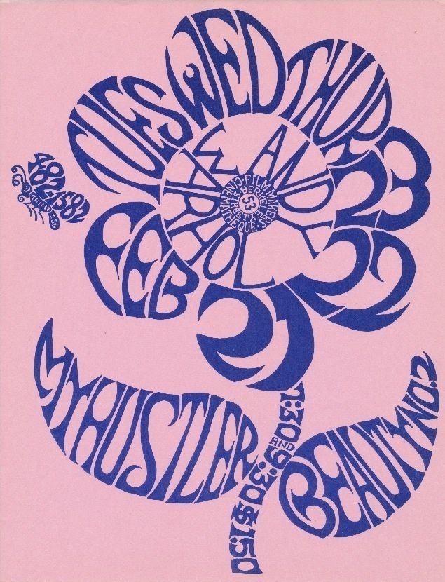 "A flyer priced at $2,500 advertising a showing of two Andy Warhol films (""My Hustler"" and ""Beauty No. 2"") at the Filmmaker's Cinematheque, which took place in February 1967."