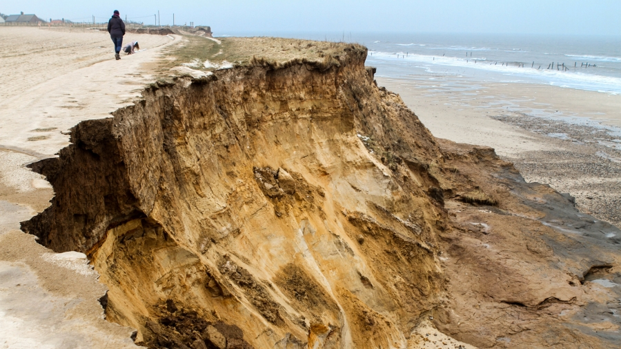 Eroded cliffs in Happisburgh