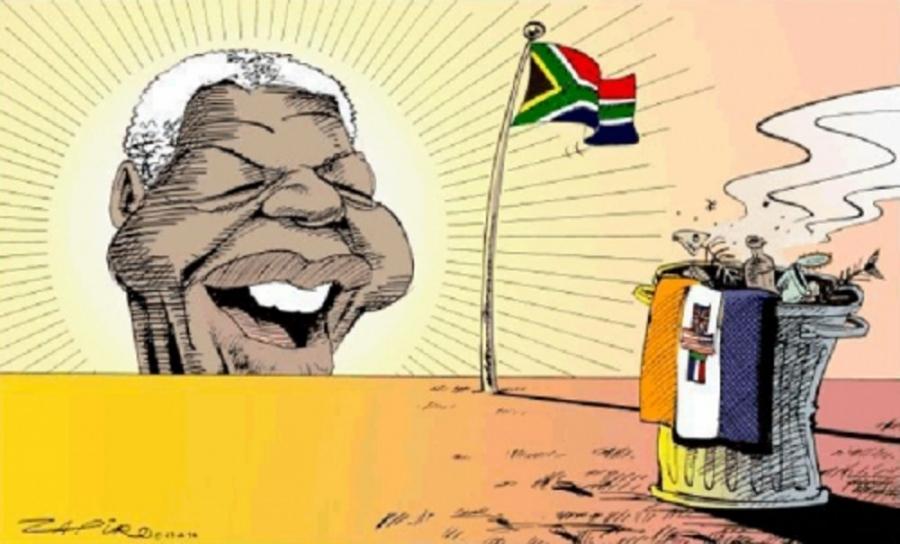 Cartoon: Zapiro, Sowetan, April 28, 1994