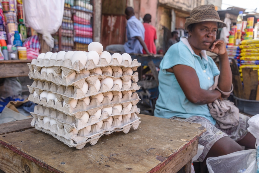 woman selling eggs