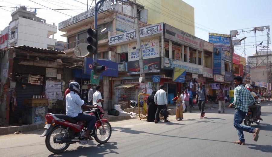 Street scene in Bangalore, India