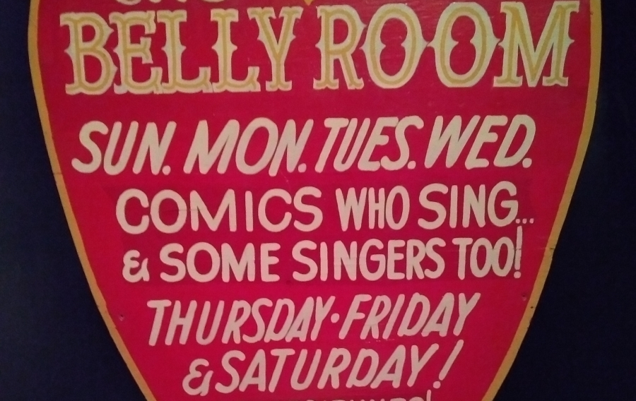 Sign for The Belly Room